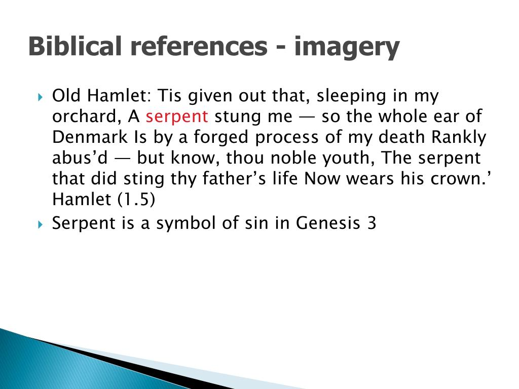 Biblical references - imagery