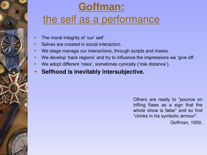 goffman performance