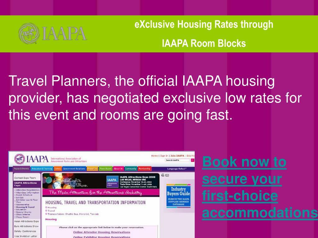eXclusive Housing Rates through
