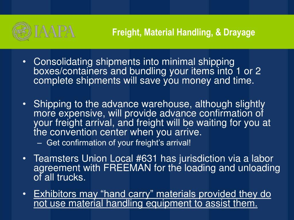 Freight, Material Handling, & Drayage