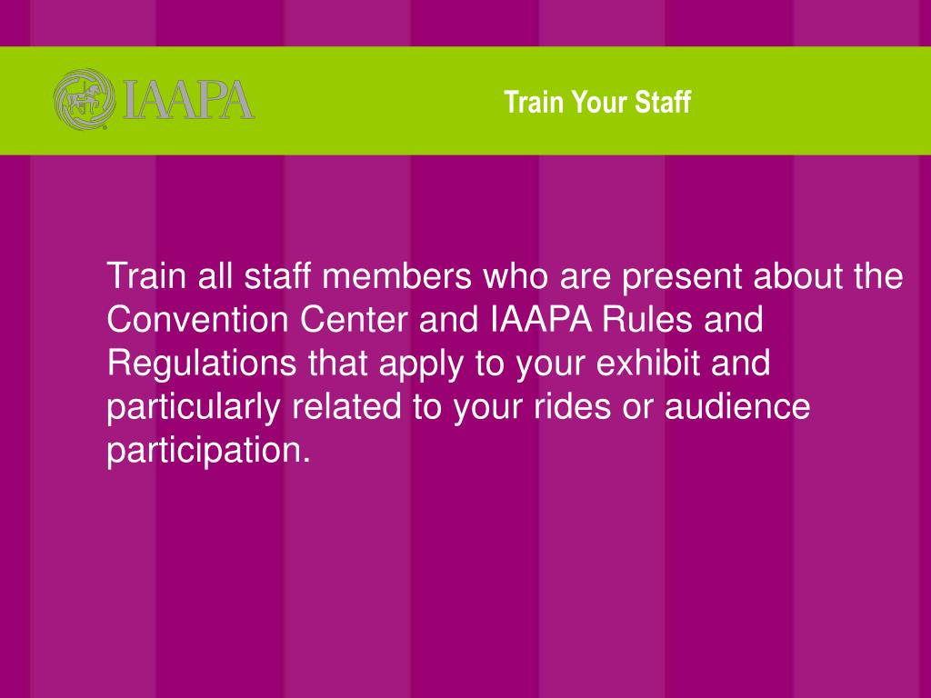Train Your Staff