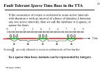 fault tolerant sparse time base in the tta