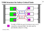 tmr structure for safety critical tasks