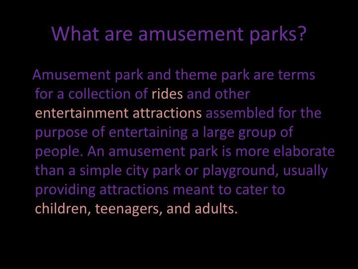 What are amusement parks