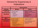 demand for experiences implications