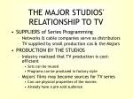 the major studios relationship to tv