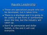 aquatic leadership
