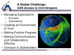 a global challenge uas access to civil airspace