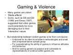 gaming violence