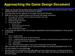 approaching the game design document