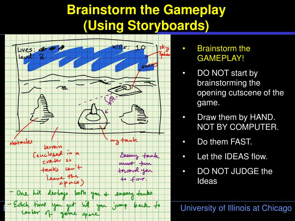 Brainstorm the Gameplay