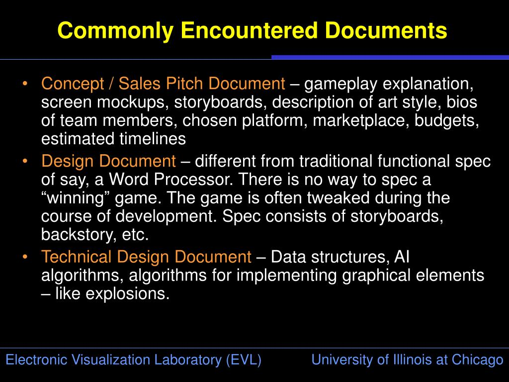 Commonly Encountered Documents