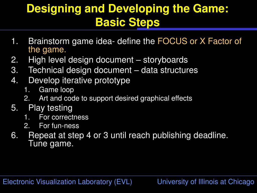 Designing and Developing the Game: