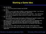 starting a game idea