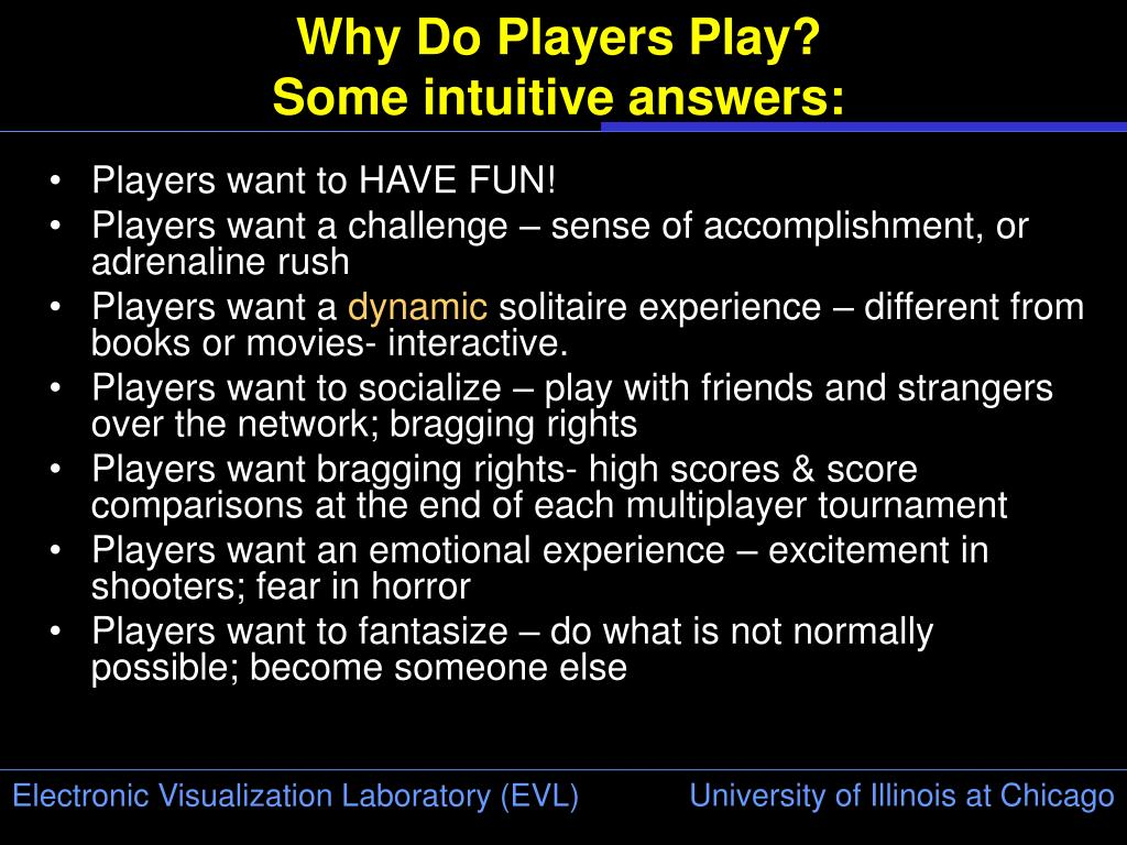Why Do Players Play?