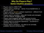 why do players play some intuitive answers