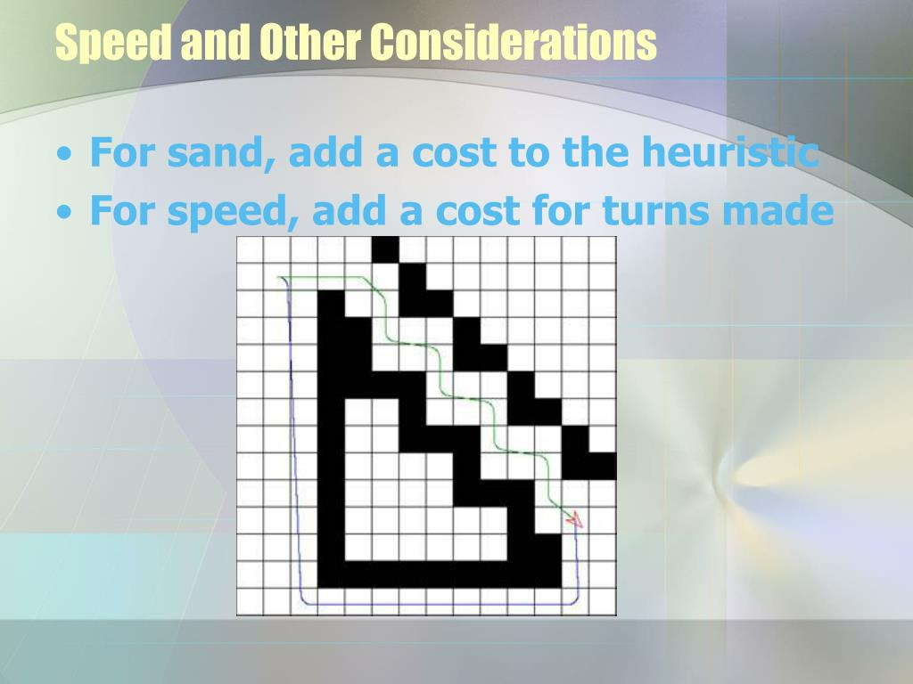 Speed and Other Considerations