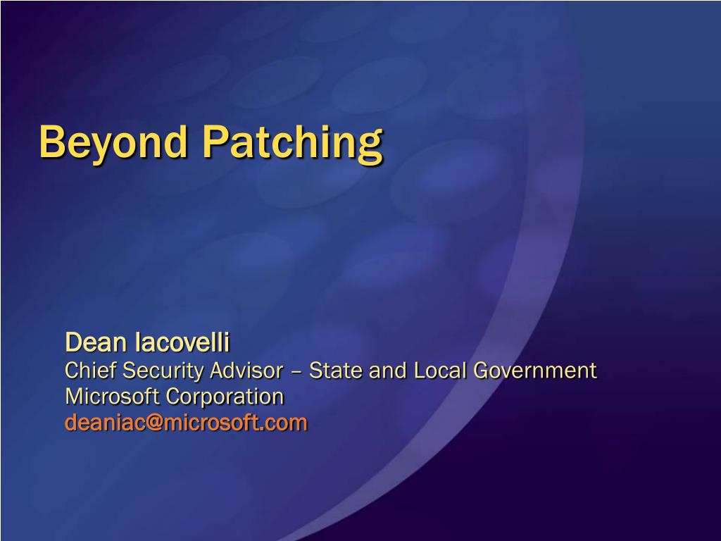 beyond patching l.