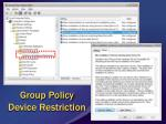 group policy device restriction