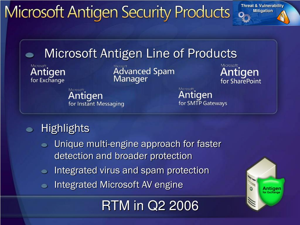 Microsoft Antigen Line of Products