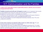 ict communication and the families7