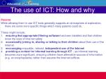the use of ict how and why27