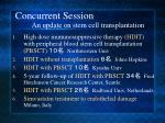 concurrent session an update on stem cell transplantation