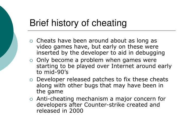 Brief history of cheating