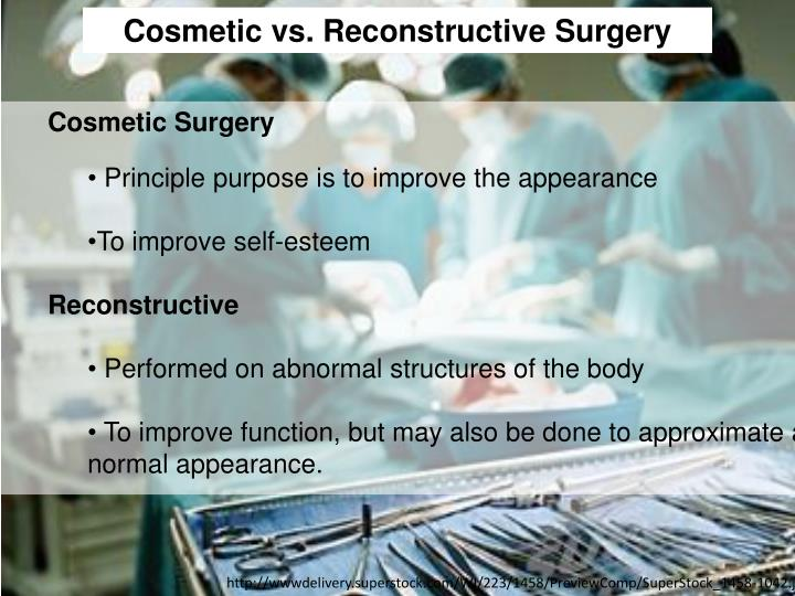 Cosmetic vs. Reconstructive Surgery