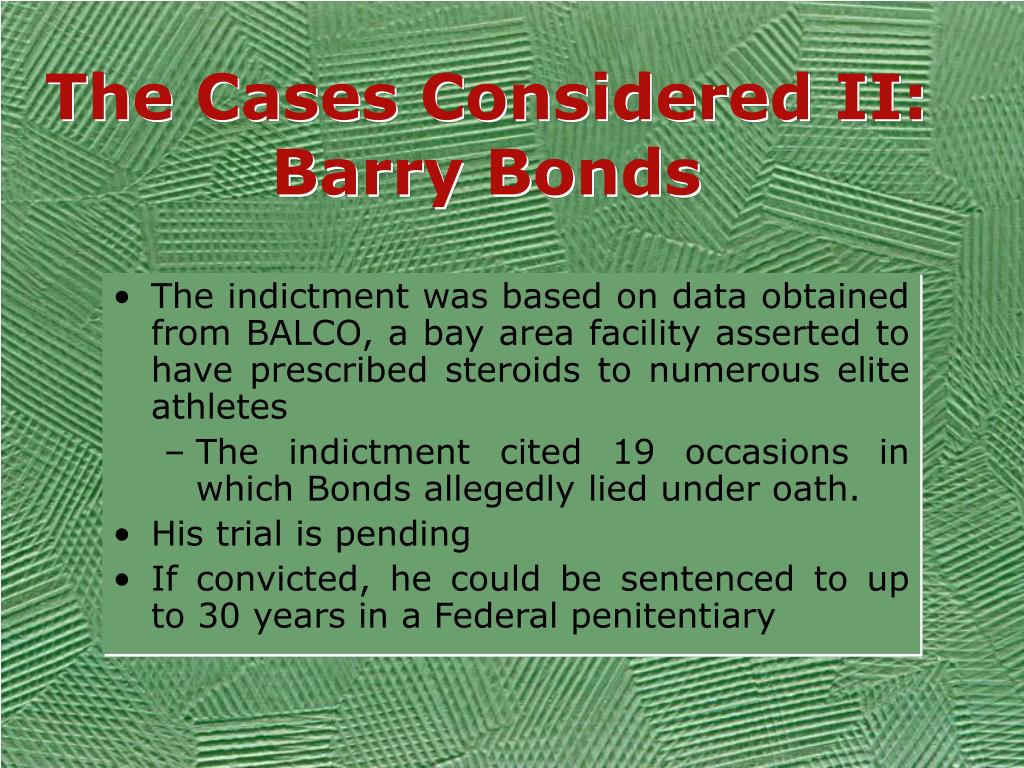 The Cases Considered II: