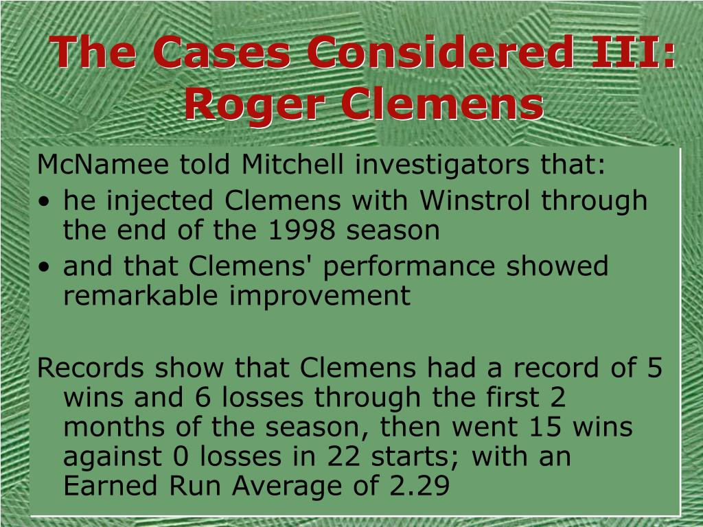 The Cases Considered III: