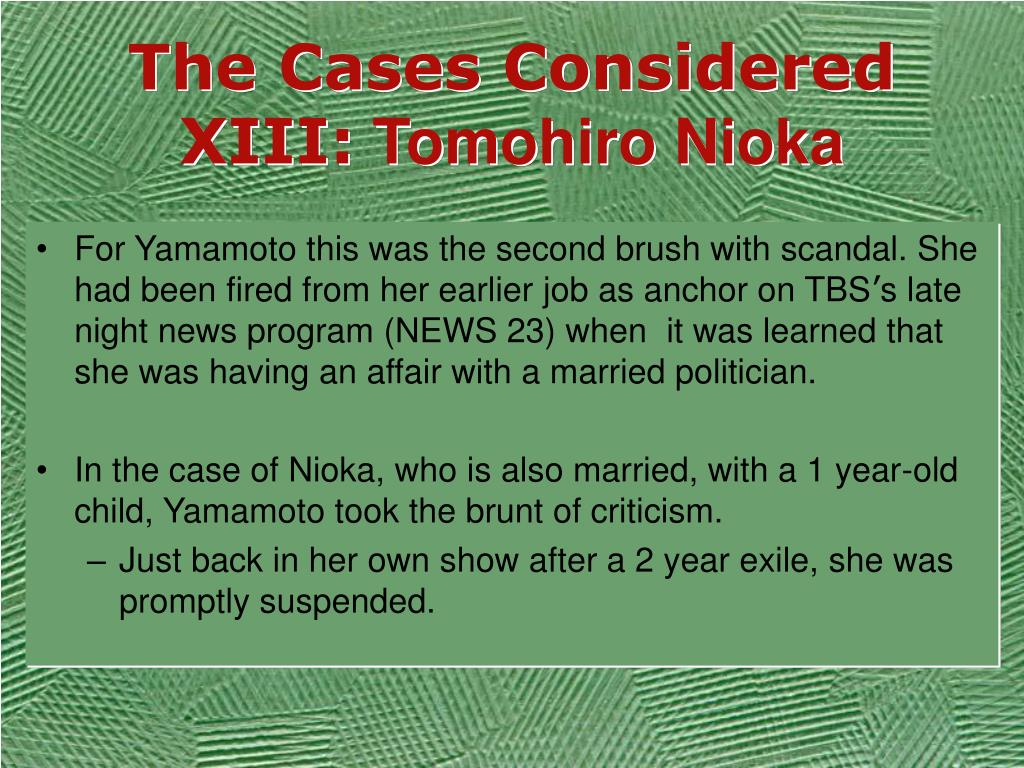 The Cases Considered XIII: