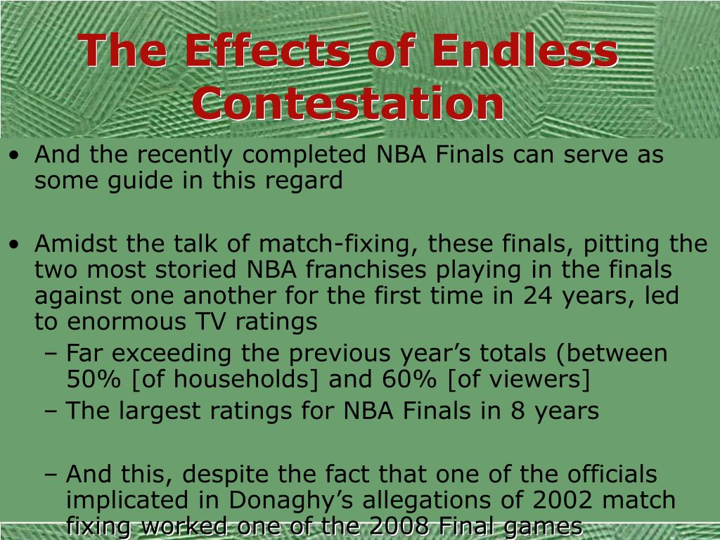 The Effects of Endless Contestation