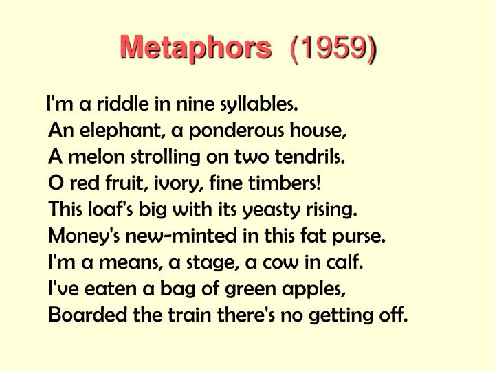metaphors sylvia plath
