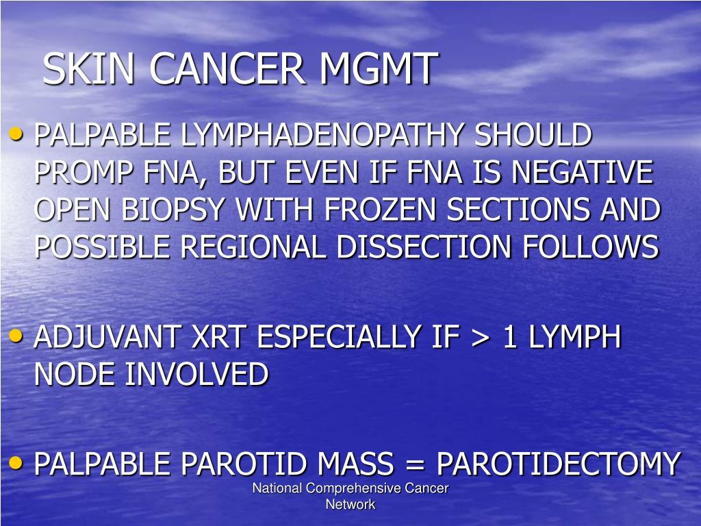 SKIN CANCER MGMT