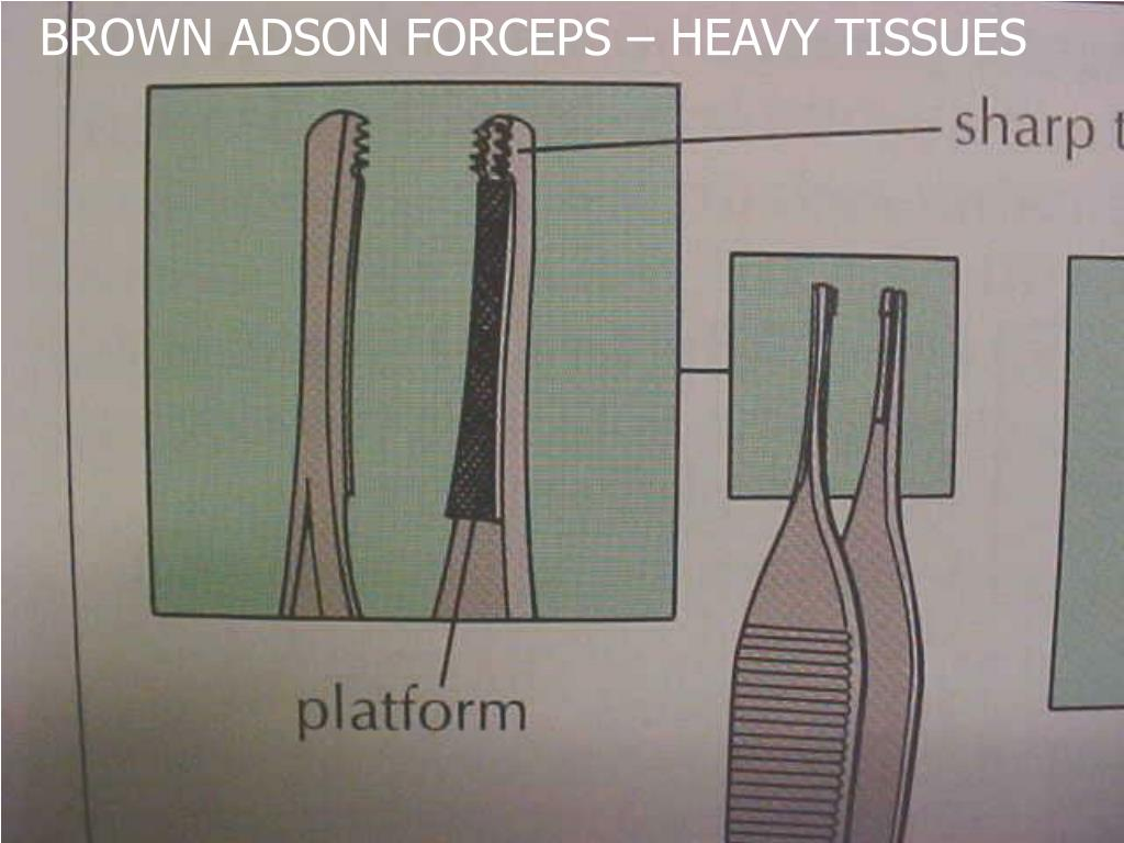 BROWN ADSON FORCEPS – HEAVY TISSUES