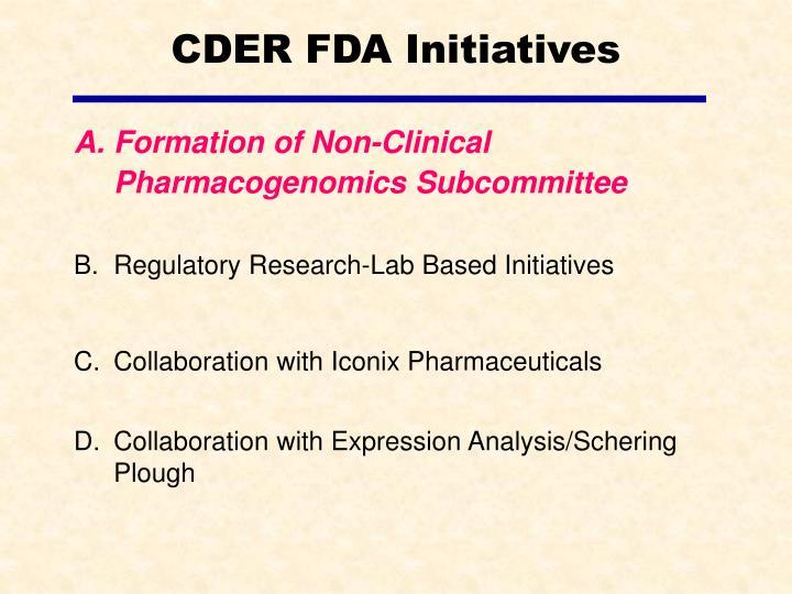 Cder fda initiatives3