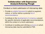 collaboration with expression analysis schering plough