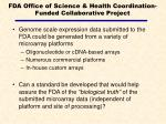 fda office of science health coordination funded collaborative project