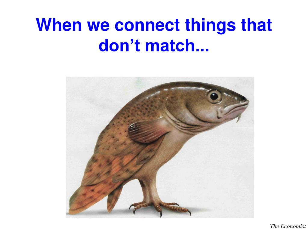 When we connect things that don't match...