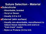 suture selection material