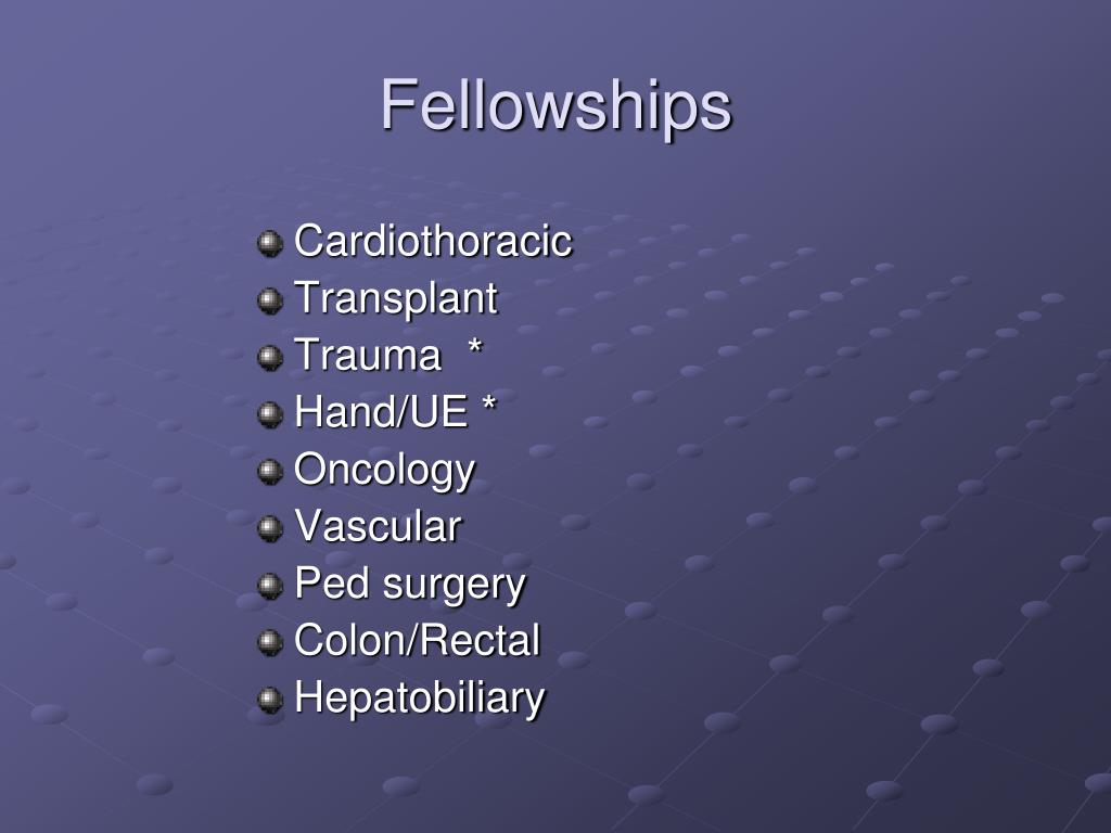 Fellowships