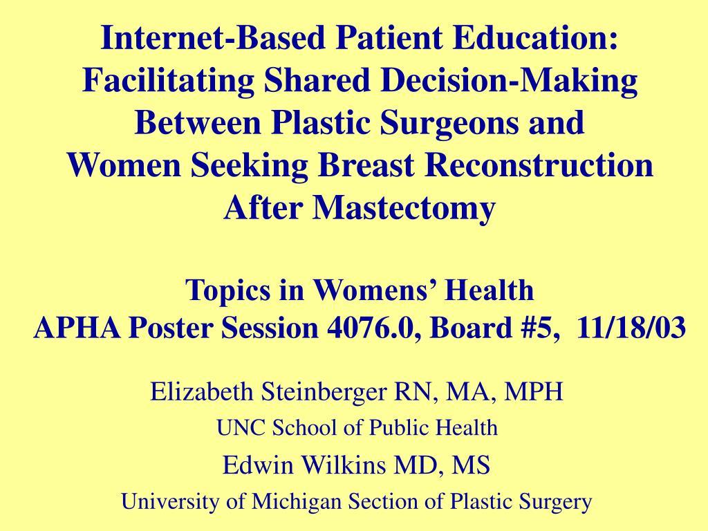 Internet-Based Patient Education: