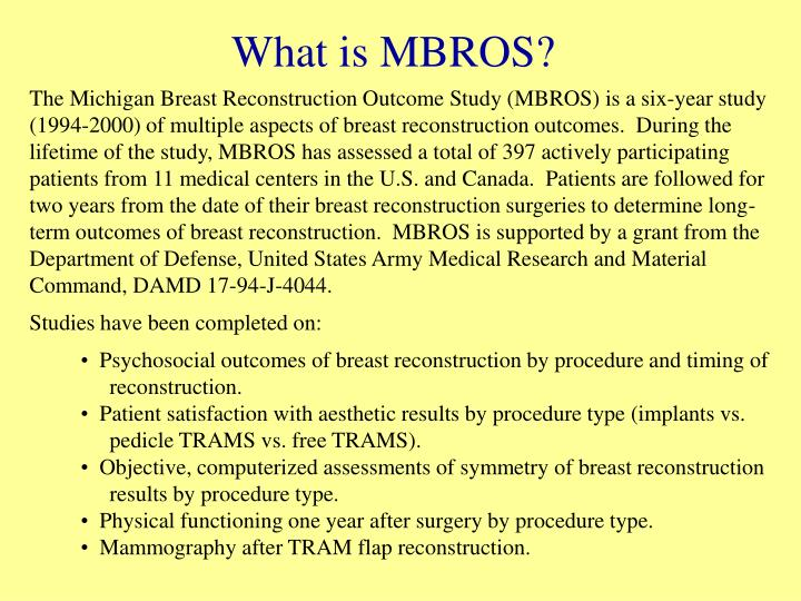 What is MBROS?
