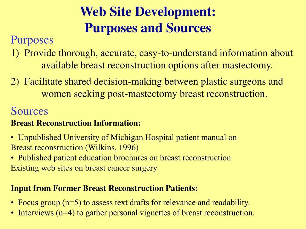 Web Site Development: