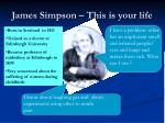 james simpson this is your life