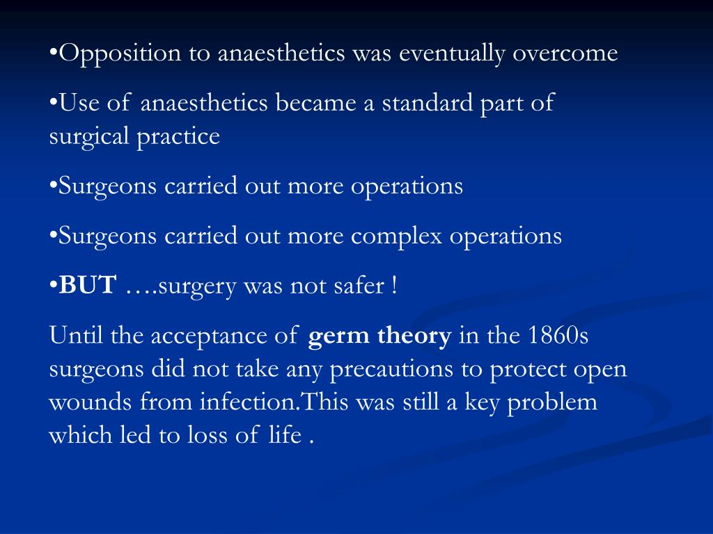 Opposition to anaesthetics was eventually overcome