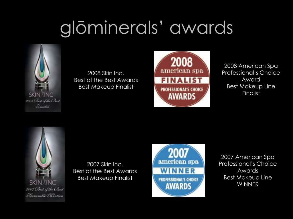 glōminerals' awards