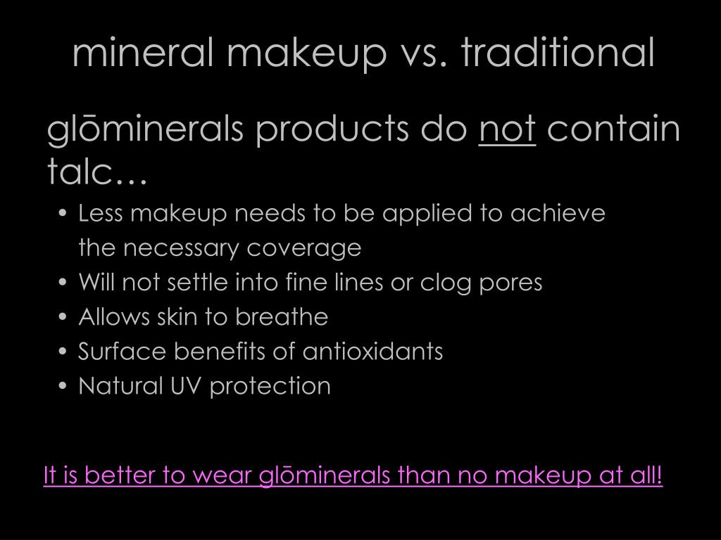 mineral makeup vs. traditional