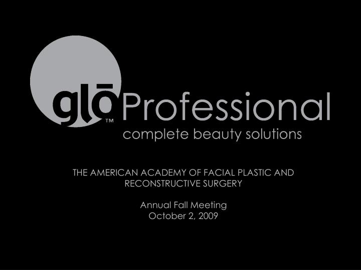 THE AMERICAN ACADEMY OF FACIAL PLASTIC AND RECONSTRUCTIVE SURGERY